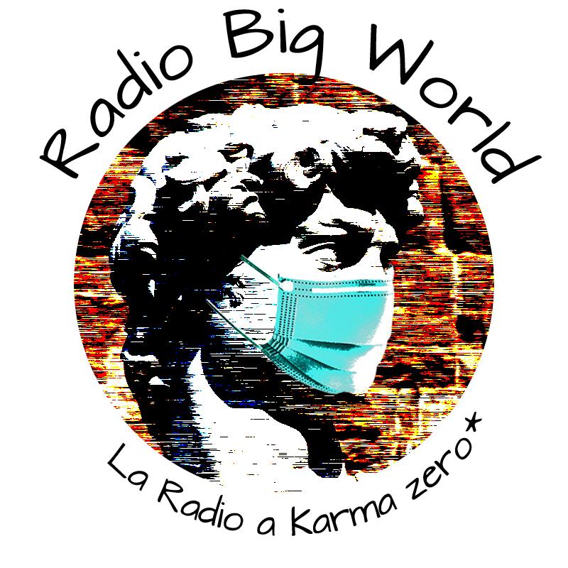 logo radio scritta sopra e sotto nero covid